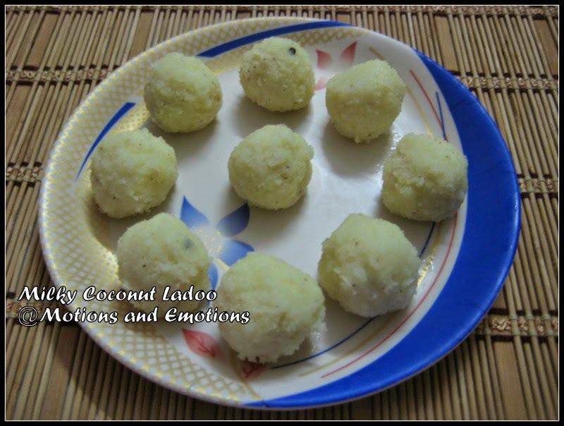 Milky Coconut Ladoo