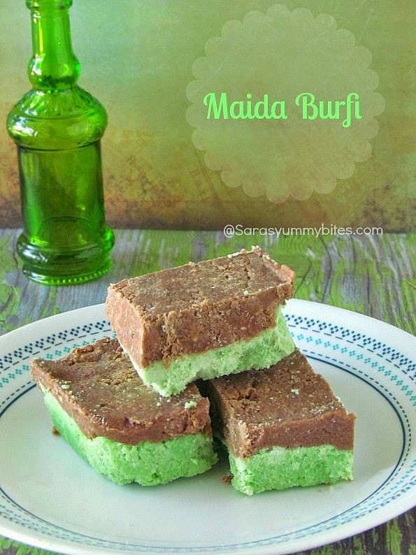 Maida Burfi / Two Colour Maida Burfi