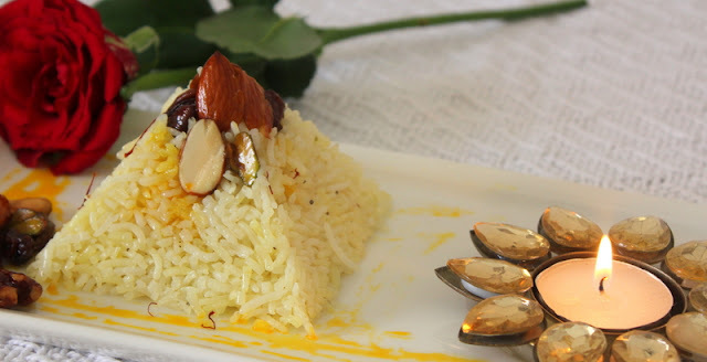 Zarda......Kashmiri Sweet Rice for Indian Cooking Challenge
