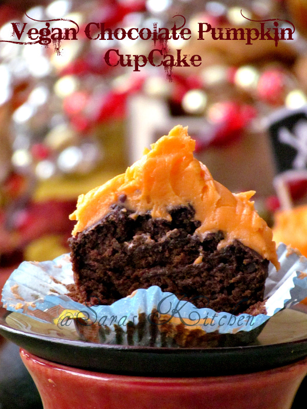 Vegan Pumpkin chocolate cupcake & choco chip muffin ~ Baking Partner's challenge 3