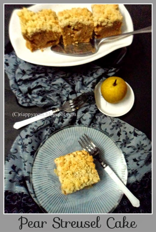 Quick and easy Pear Streusel Cake
