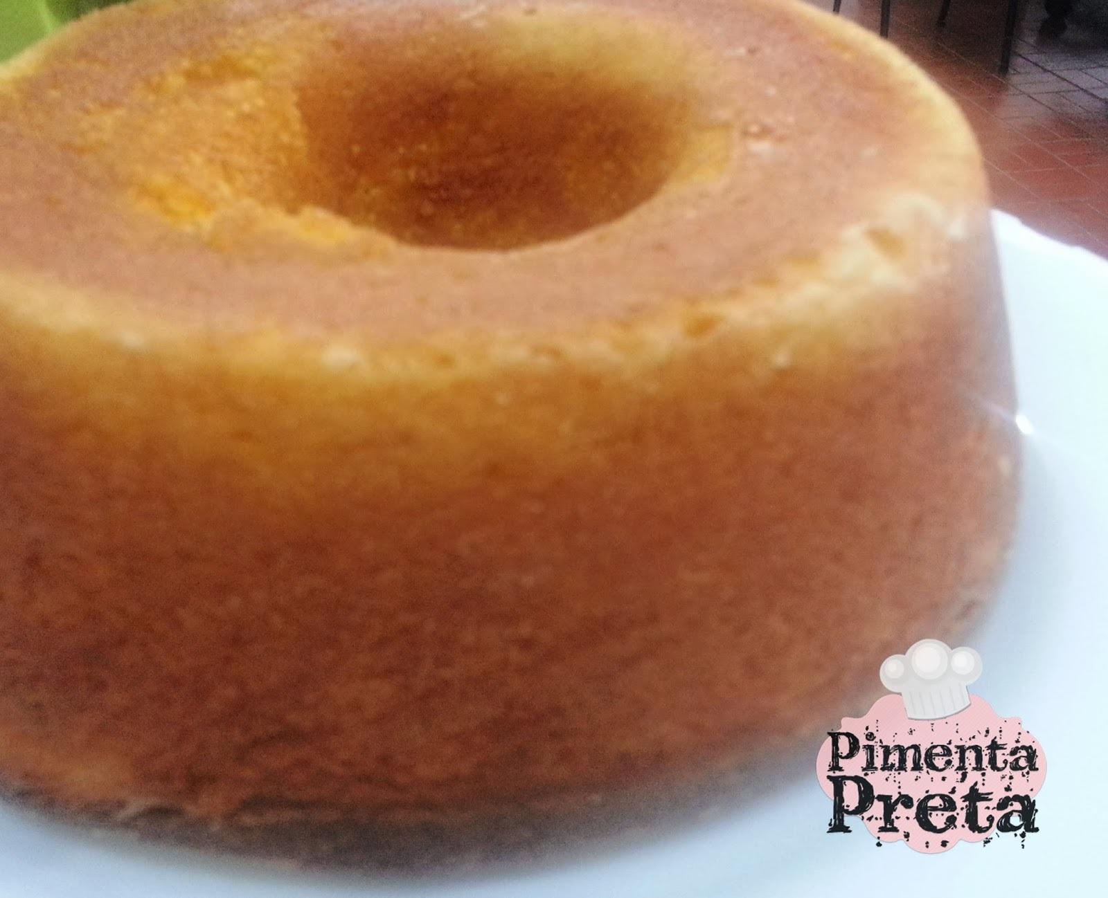 de bolo de milho cremoso feito com flocão