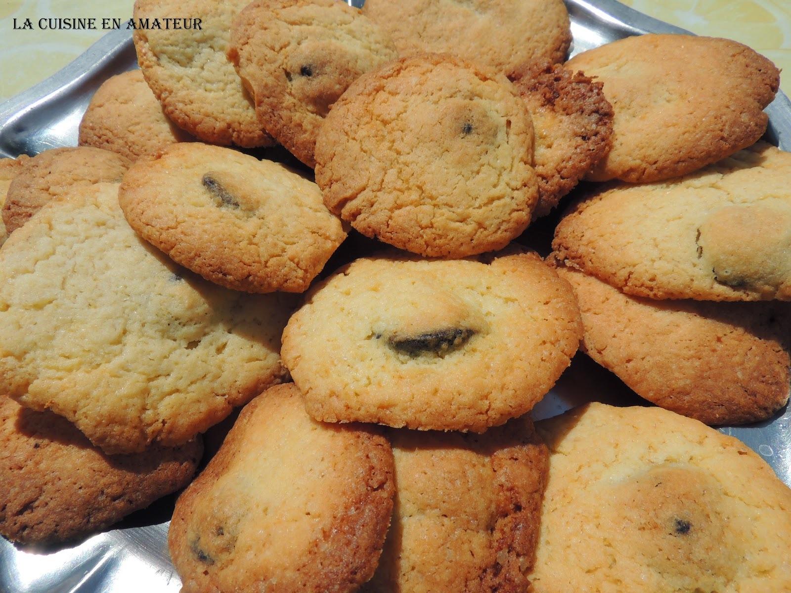 Biscuits au croquant de myrtilles