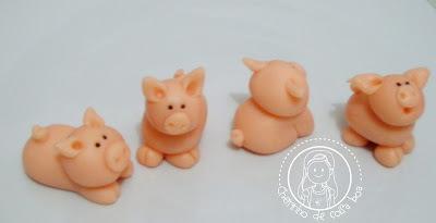 Docinhos modelados porquinhos