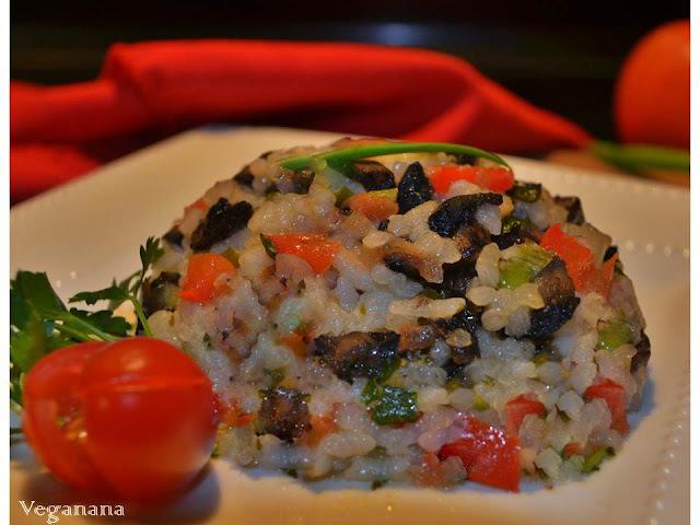Arroz com Portobella e Legumes