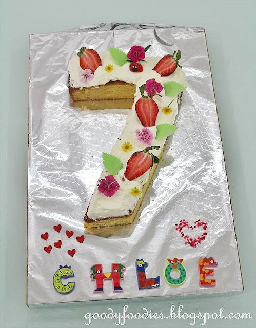 How to Make Number 7 Birthday Cake