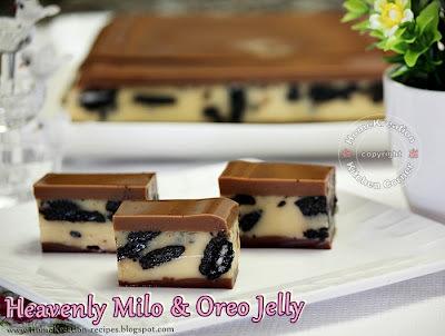 Heavenly Milo & Oreo Jelly (Agar-Agar Milo Lapis Oreo)