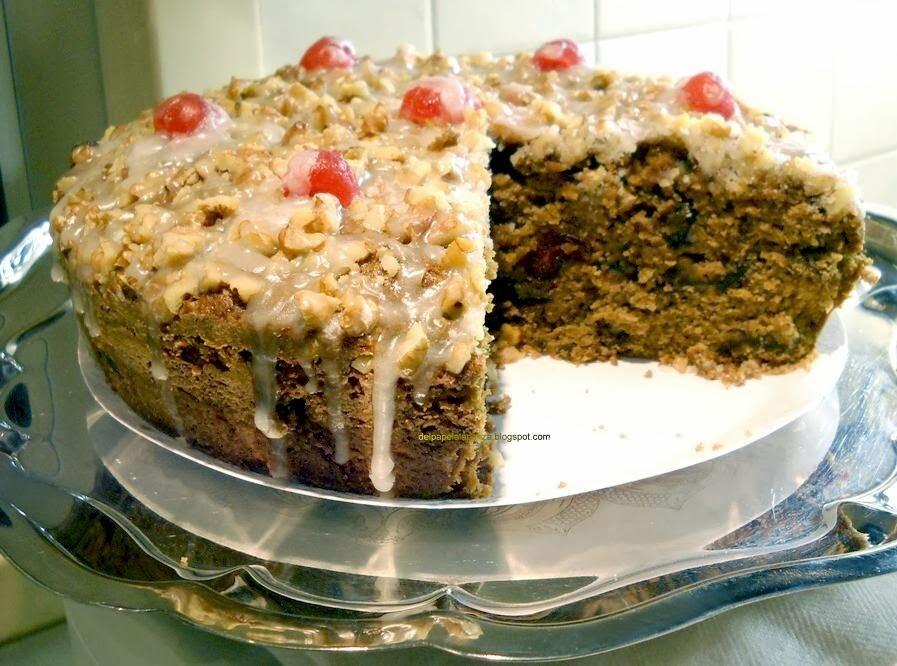 torta humeda de ciruelas y nueces