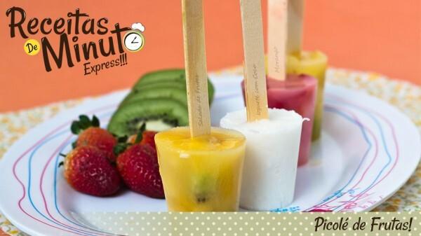 picole de frutas no copo descartavel
