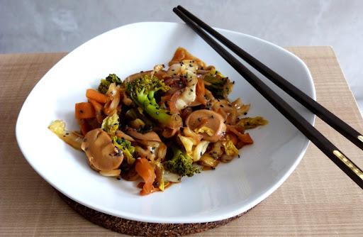 legumes refogados com shoyu