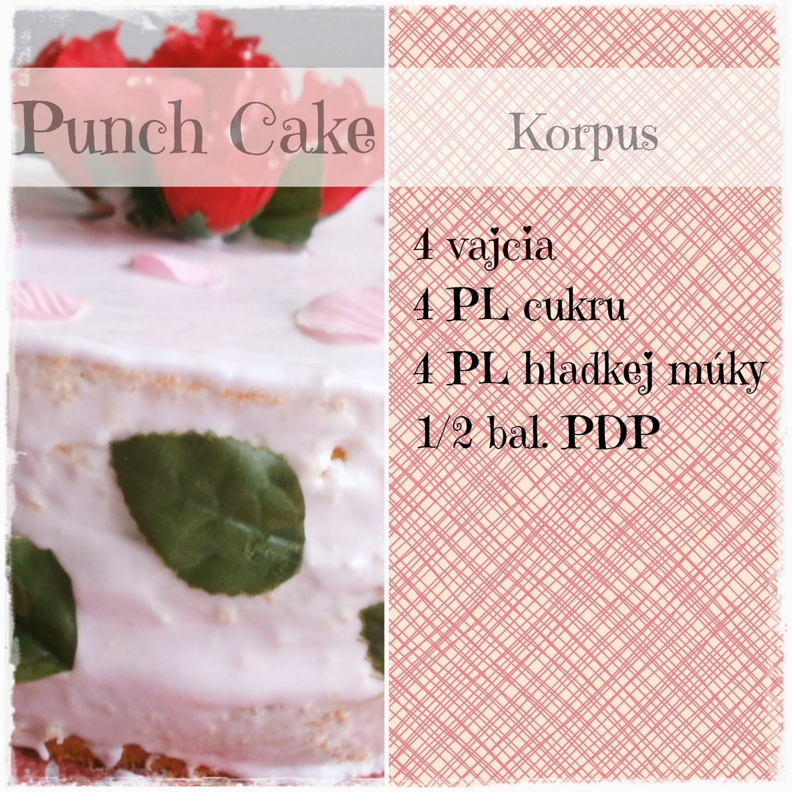 punčová torta fotorecept