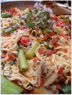 Daring Cooks #5 - Linguine maison aux tomates cerises et au chorizo