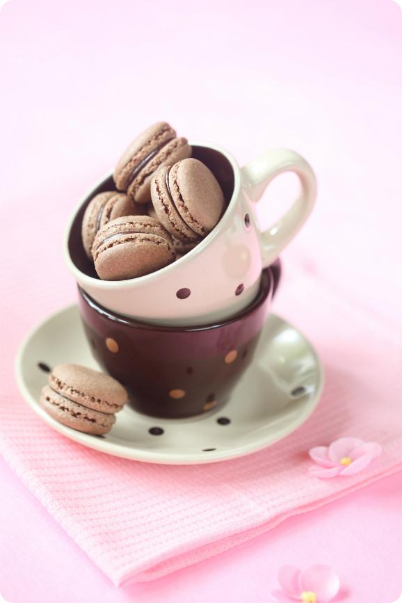 Шоколадные макаронс / Macarons de chocolate