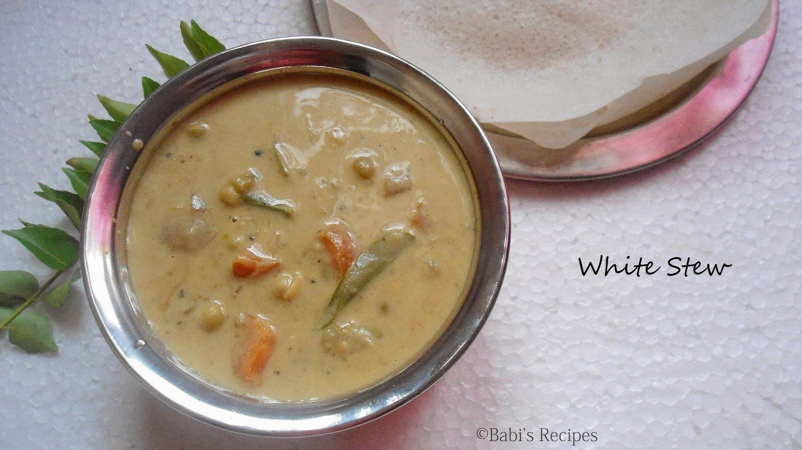 White Stew  for Aapam ( Kerala Style)