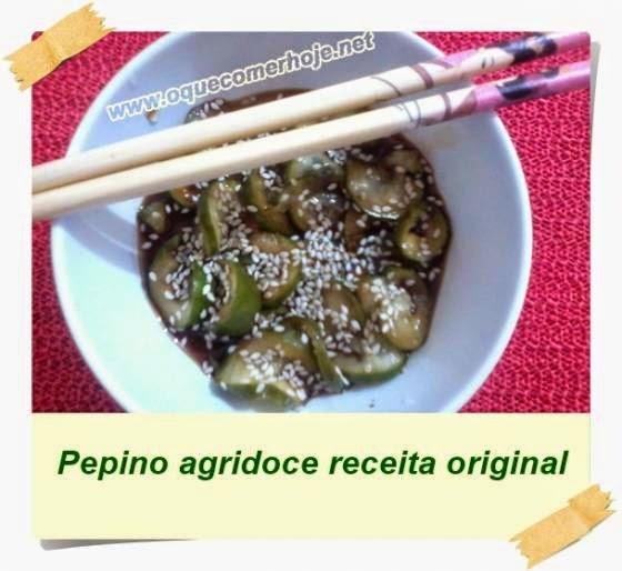 pepino com gengibre e shoyu