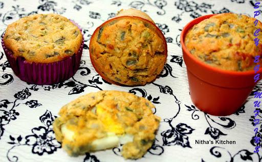 Baked Egg Bonda | Savory Boiled Egg Muffins