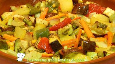 Receta de verduras al horno con especias