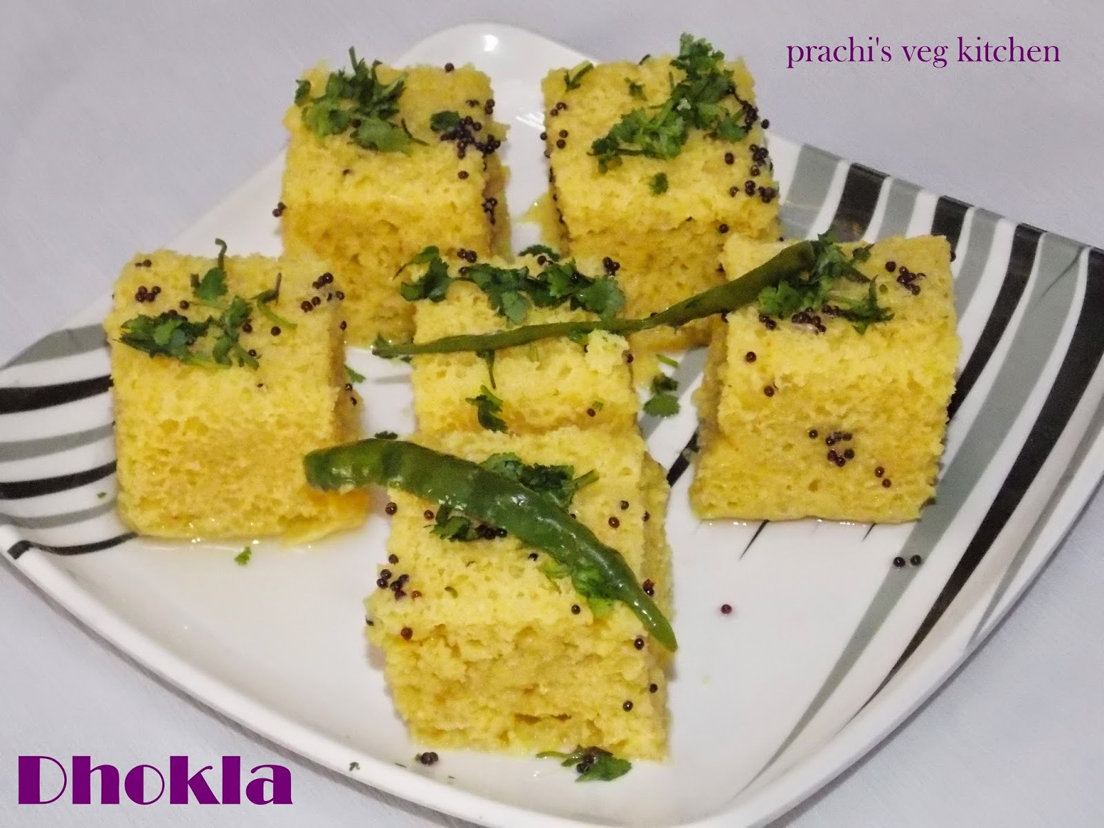 dhokla with suji and besan