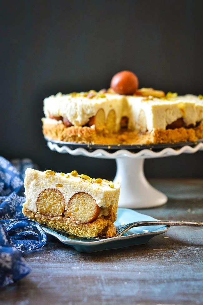 Gulab Jamun Cheese Cake