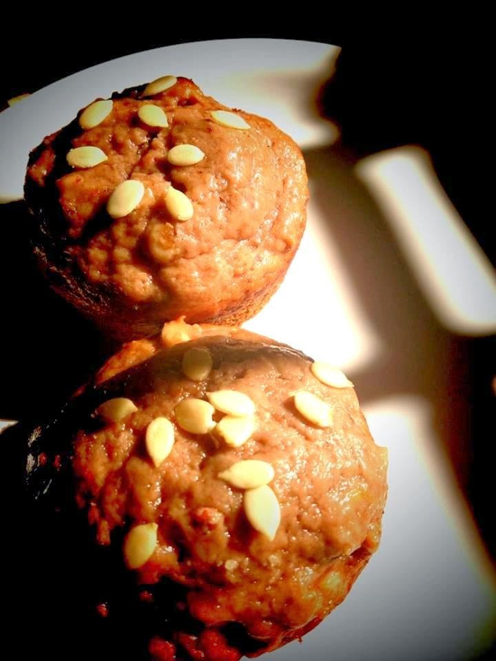 Banana,  Bran,  Seeds and Nuts Muffin  ( Egg free  and no butter )