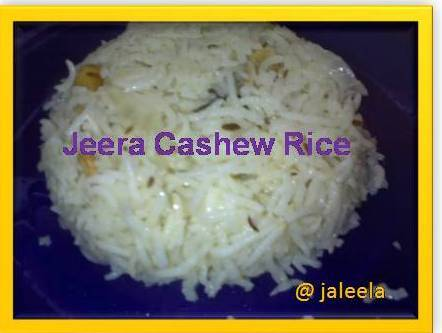 Jeera Cashewnut Rice