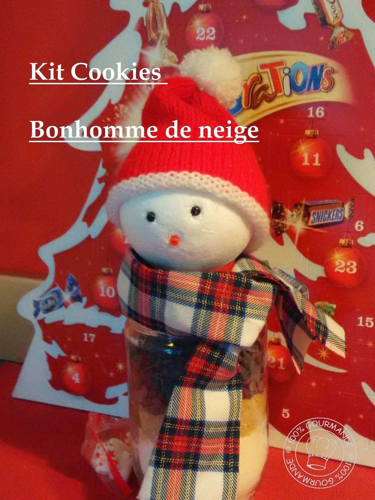 Kit Cookies bonhomme de neige