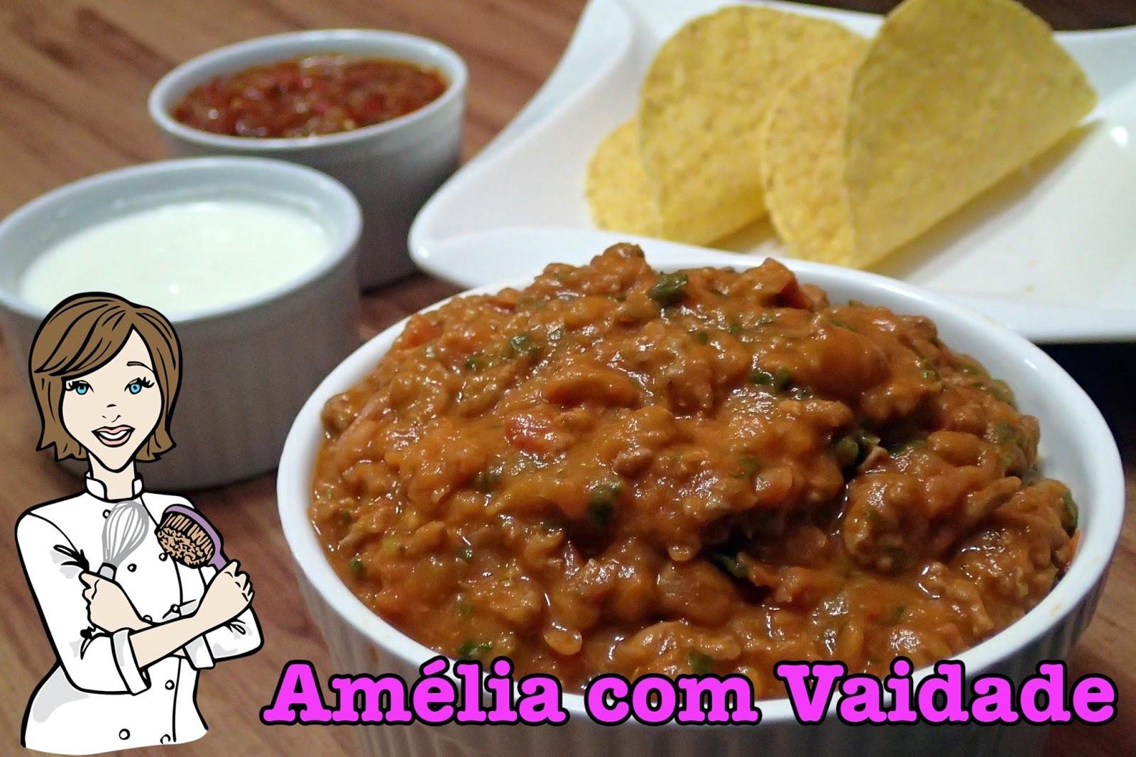 Chili com Carne - para tacos e burritos mexicanos