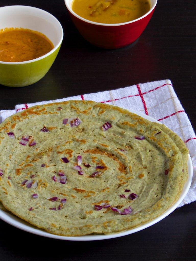 Pesarattu  -  Andhra Breakfast | Moong Dal Crepe