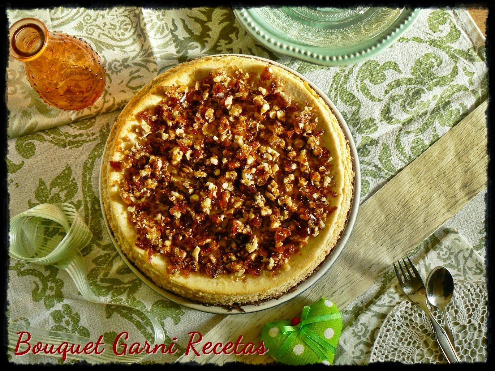 Cheesecake de peras con crocante de nueces (y dos agradecimientos)