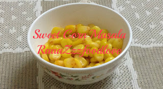 Instant 2-minutes sweet corn masala