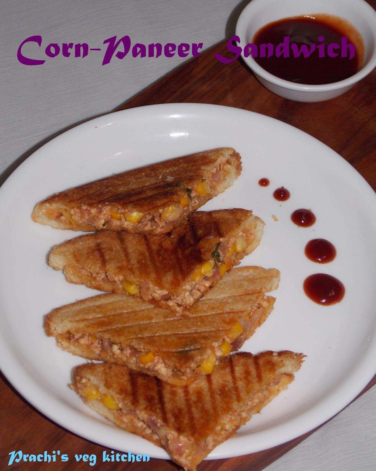 Corn-Paneer Sandwich