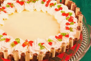Cheese cake navideño