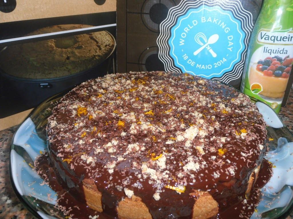Bolo duplo de chocolate e nozes- World Baking Day- 18 de maio, um dia especial para quem adora fazer bolos