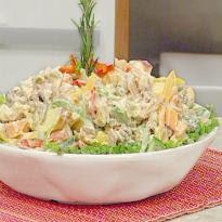 salada de acelga com abacaxi com maionese