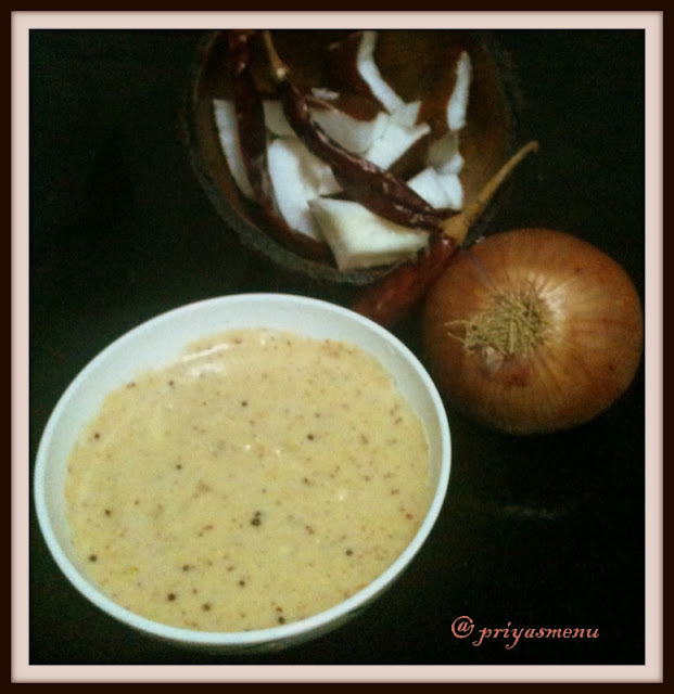 Coconut Chutney With Raw Onion Flavor