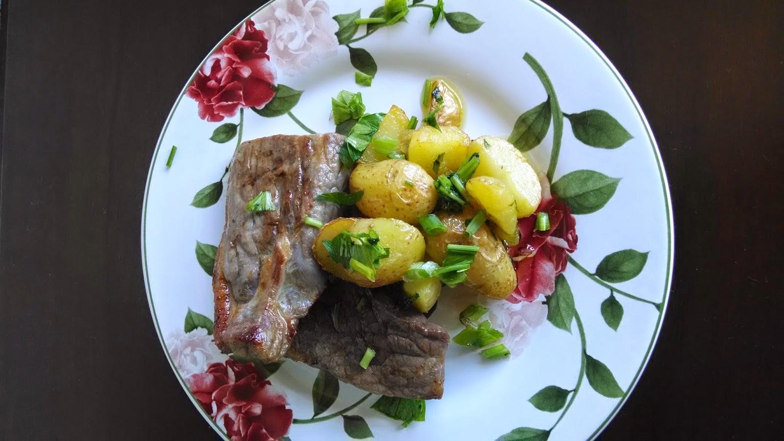Carne de Sol com batatas Sauté