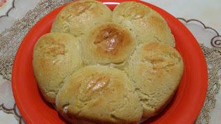 Rosca de pão de batata com linhaça