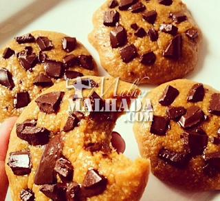 Receita de Cookies Fitness de Manteiga de Amendoim com Gotas de Chocolate