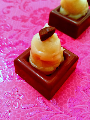 Doce de amêndoas com chocolate