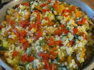Arroz Integral, con Verduras y Hortalizas