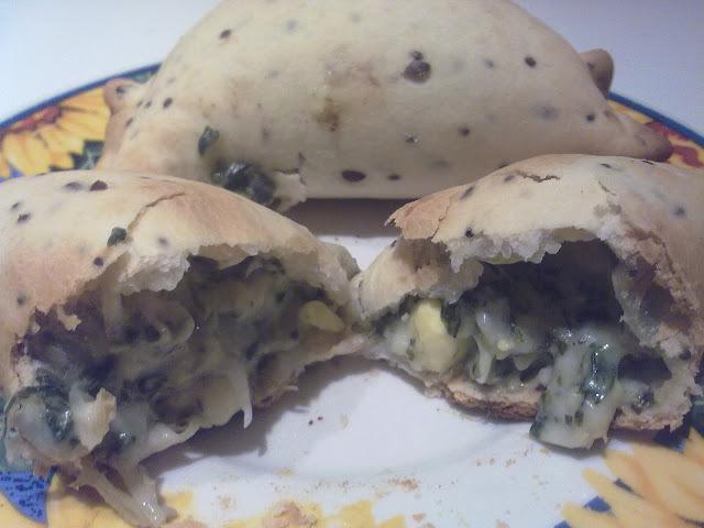 de empanadas de verdura y queso