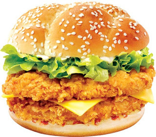 crispy chicken fillet burger