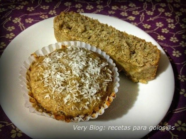 QUEQUE DE PLÁTANO SIN Gluten, Leche ni Azúcar