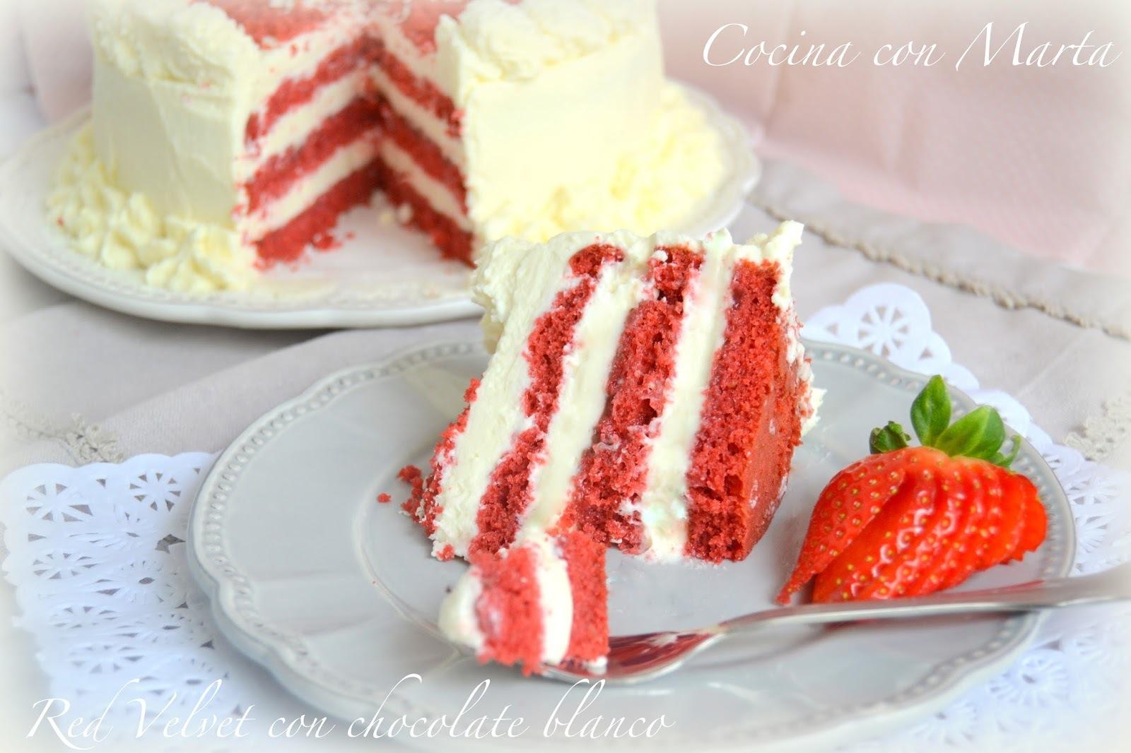 Tarta Red Velvet con Chocolate blanco. ¡Feliz San Valentín!