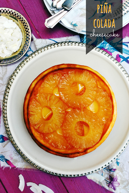 {#RepDomLove} piña colada cheesecake