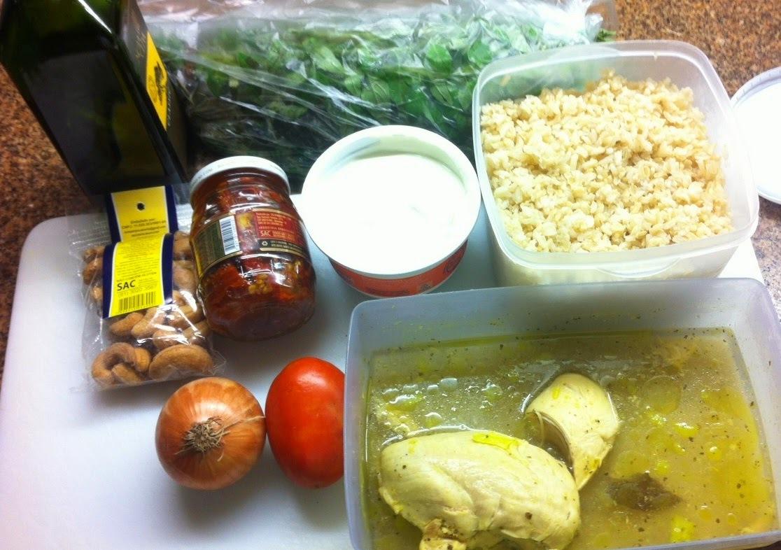 risoto de frango e presunto e queijo e creme de leite