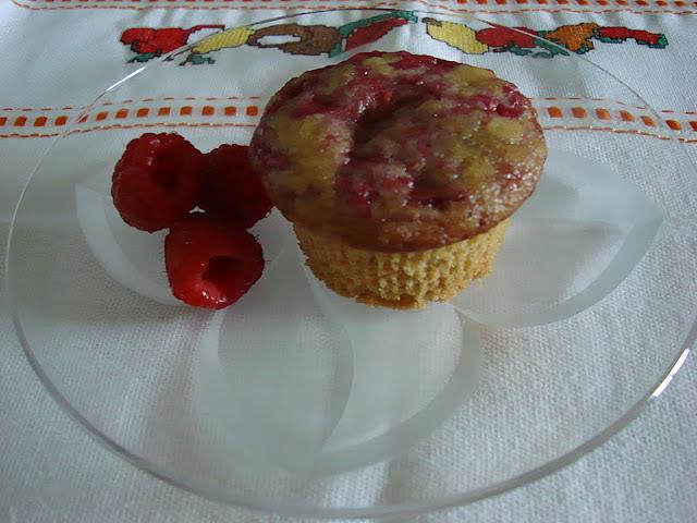Muffin vegan de framboesa