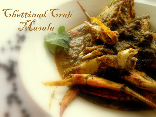 Chettinad Crab Masala - Nandu Chettinad Curry
