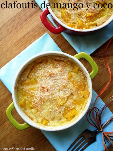 [whole kitchen] clafoutis de mango y coco