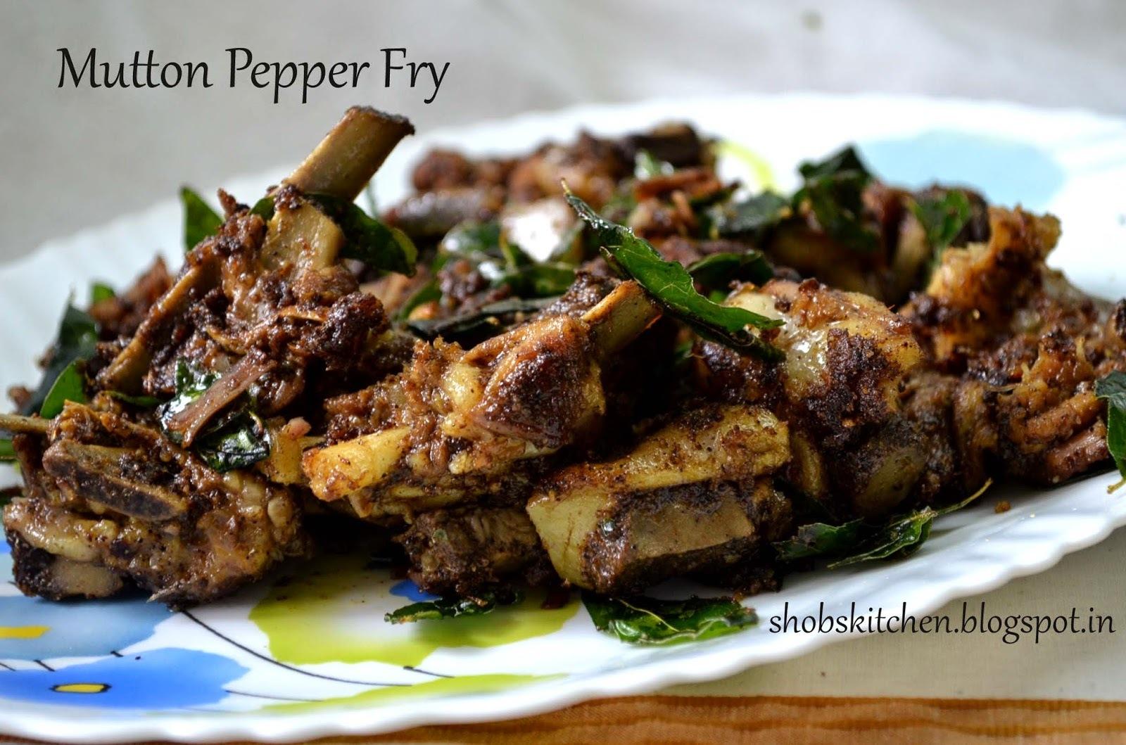 Mutton Pepper Fry...Khaja Style!